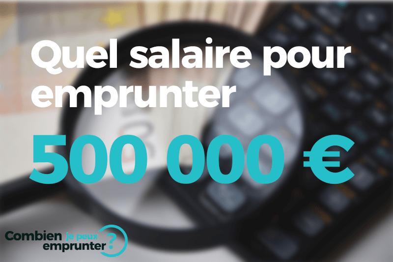 Emprunter 500000 euros